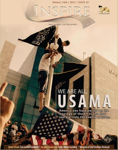 La couverture du dernier numéro du magazine d'el-Qaëda.