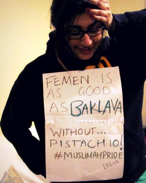 Les Femen sont bonnes comme un baklava sans pistaches.