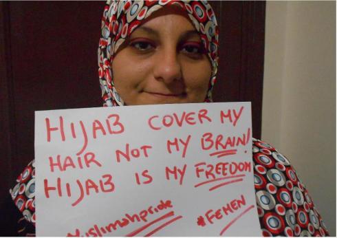 Le hijab couvre mes cheveux et non pas mon cerveau.