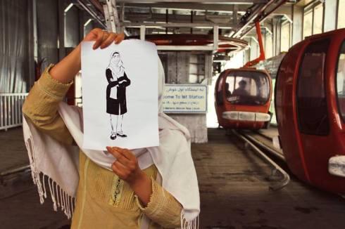 Une partisane de Zahra à Téhéran...