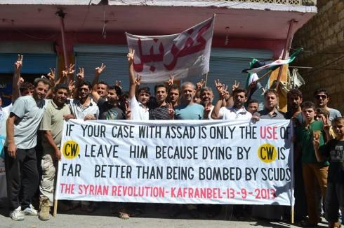 « Si votre problème avec Assad est l'usage des armes chimiques, laissez-le, parce que mourir gazés est de loin meilleur que périr sous les bombes. »
