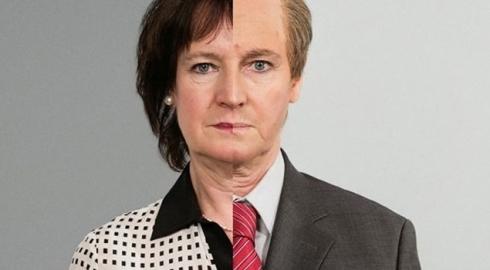 Annelie Nordström, avant et après sa transformation.